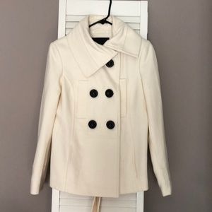 Zara White/ivory coat